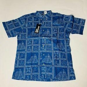 Reyn Spooner Mens Hawaian Shirt Size Large Newport